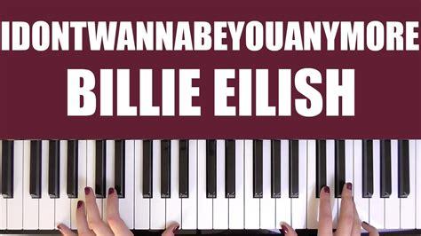 billie eilish guitar chords how to play idontwannabeyouanymore billie eilish chords