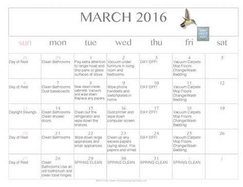 printable and editable calendar 2016 free editable printable march 2016 cleaning calendar
