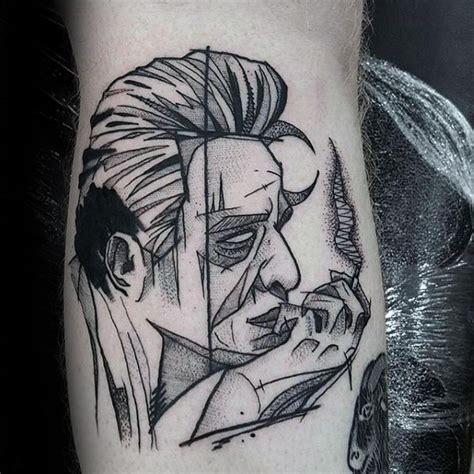 simple johnny tattoo 50 johnny cash tattoo designs for men musician ink ideas