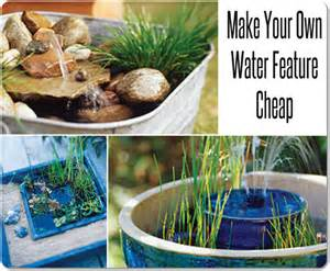 make your own water feature cheap