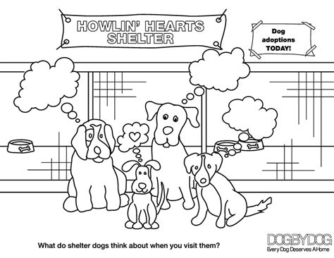 rescue dogs coloring pages kids page dog by dog