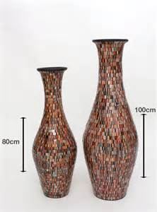 floor vase with glass mosaic 80 cm ceramic