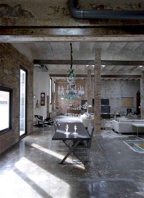 architectures modern loft with industrial bricks element industrial chic feminine masculine erika brechtel
