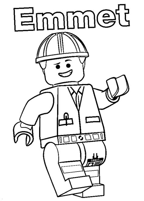 lego minifig coloring page emmet minifigure lego coloring page to print and free download