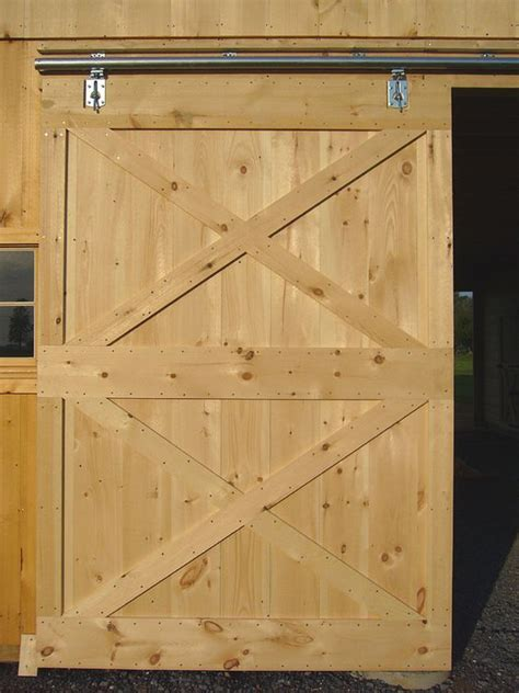 How To Build A Barn Style Door Free Sliding Barn Door Plans From Barntoolbox Diy For The Home Sliding
