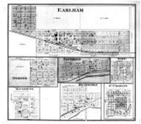 earlham webster patterson peru macksburg bevington st charles atlas madison county 1875