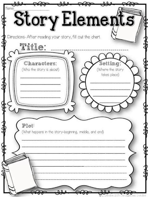 story structure worksheets the applicious five for friday the 2nd week in and a freebie story elements graphic