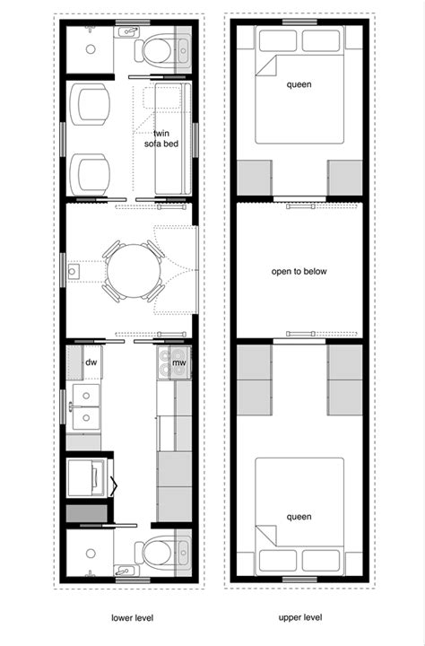 tiny house floor plans with lower level beds tiny house floor plans tiny house design