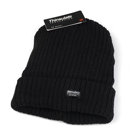 one size hat thinsulate black beanie hat one size winter no1brands4you
