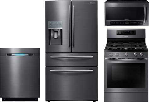 samsung kitchen appliances samsung 4 piece kitchen package with nx58j7750sg gas range