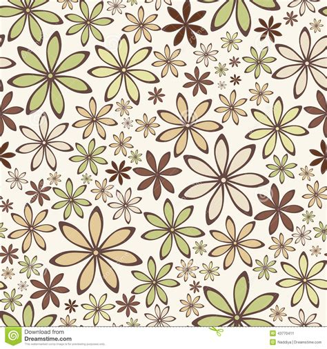 brown green pattern seamless illustration beige brown tile pattern vector