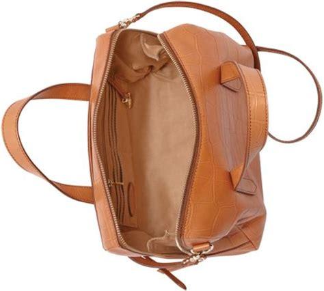 Tas Cewek Fossil Sydney Shopper Tote Croco fossil sydney leather croco print satchel in brown
