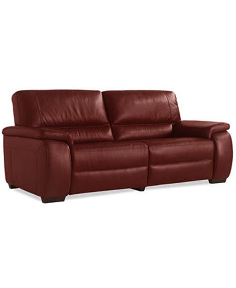 macys leather sofa sale marchella leather dual power reclining sofa furniture