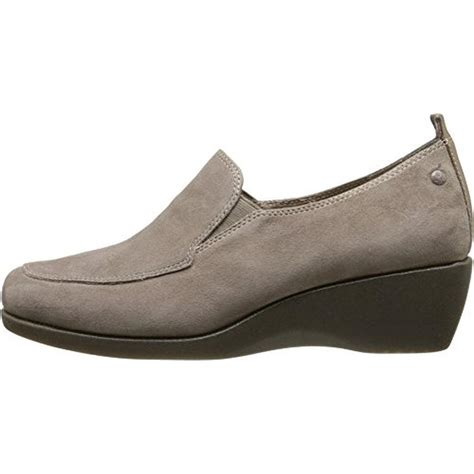 loafer wedge shoes hush puppies 4469 womens vann cleary suede loafer slip on