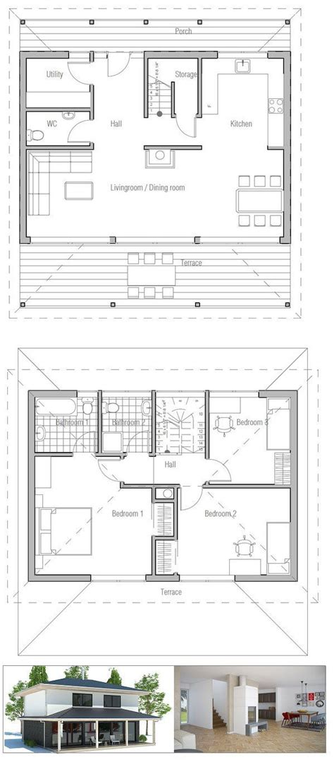 new house plan 86154 total living area 2673 sq ft 5 small house plan with open and efficient room planning