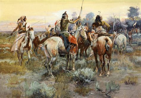 The Truce the truce indians charles marion indiana painting