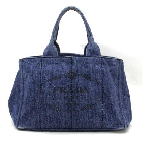 canapé indien auth prada canapa tote bag blue denim b1877b 29527