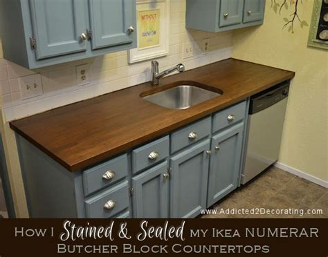 how i stained sealed butcher block countertops