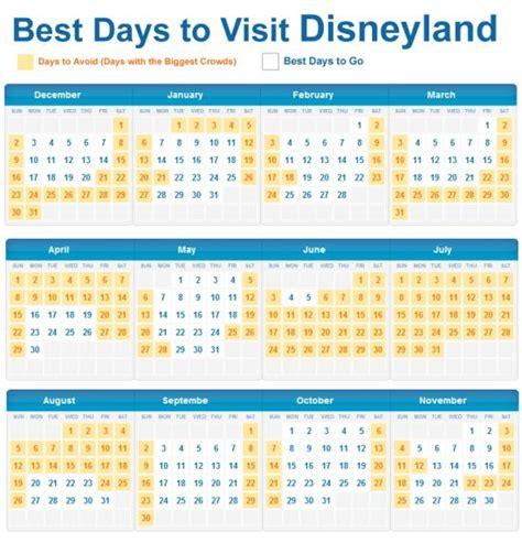 Disneyland Busy Calendar Best Days To Visit Disneyland To