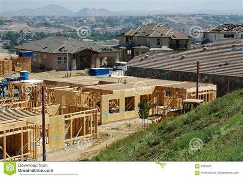 new home construction site stock image image of