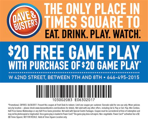 dave and busters printable food coupons dave and busters coupons 20 2018 i9 sports coupon