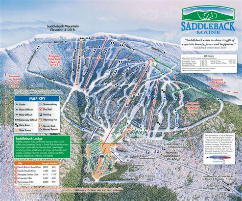 maine ski resorts map saddleback ski trail map 976 saddleback mtn rd rangeley