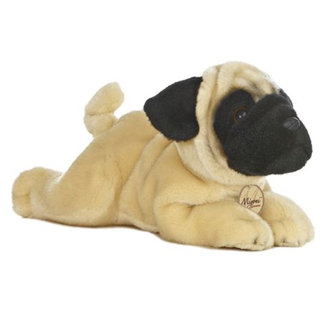 pug plushies realistic stuffed pug 11 inch plush by