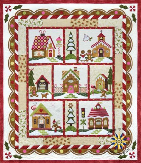 gingerbread village block of the month quilts vol 2