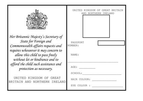passport template uk passport by bryden teaching resources tes