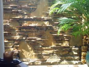 water wall waterfall fountain contemporary patio