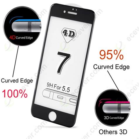 Tempered Glass Screen Protector 4d Curved Cover Ip Murah 4d cover tempered glass curved edge screen protector