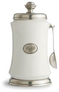 coffee kitchen canisters tuscan coffee canister with spoon traditional kitchen