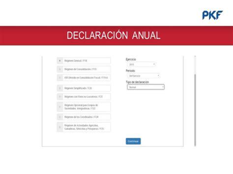 declaracion anual cuando se presenta en 2016 tablas declaracion anual 2015 tablas declaracion anual