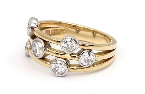 design ring online uk a stunning contemporary three row diamond ring design