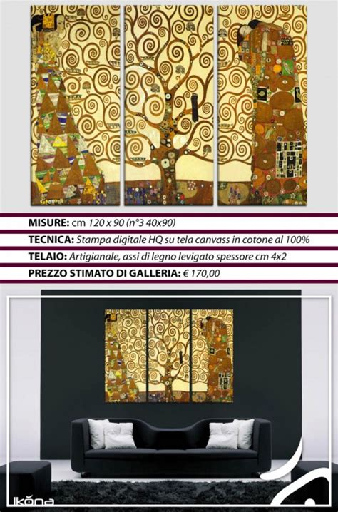quadri d arredamento moderni quadri moderni arredo klimt 3pz albero della vita