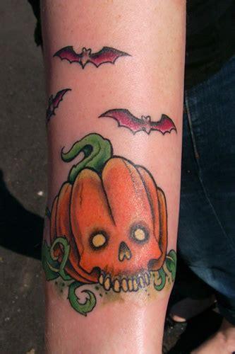 new school pumpkin tattoo skull pumpkin by shawn hebrank tattoonow