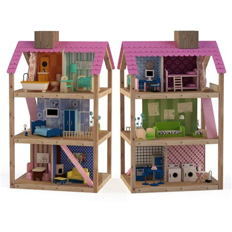 model doll houses house doll dollhouse 3d max
