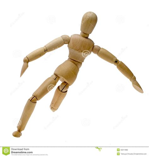design doll poses doll which kicks the ball stock photo image 42211882