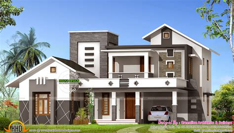 home design for 2400 sq ft 2400 sq ft mixed roof house kerala home design and floor