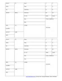 Blank nursing report sheets for newborns nursing patient worksheet