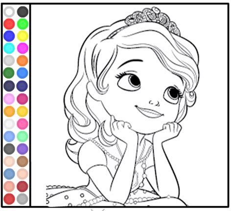 sofia coloring pages games sofia the first games free kids games online
