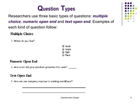 questionnaire design guidelines for establishment surveys questionnaire design