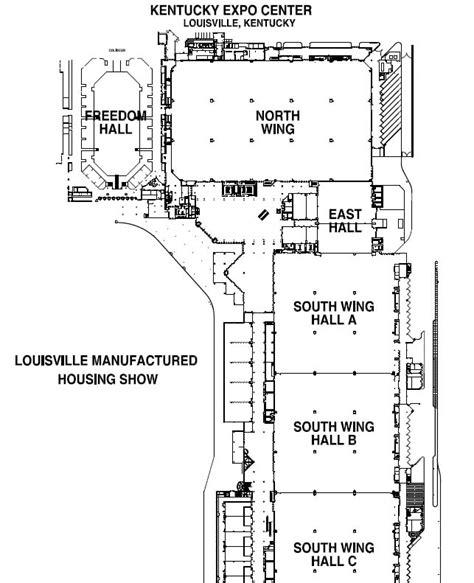 map kentucky expo center kec show map louisville manufactured housing show