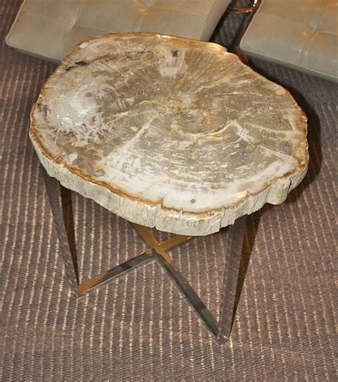 wood slice side table petrified wood slice side table unique accent tables
