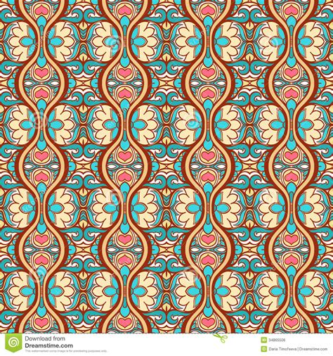 pattern blue brown vertical abstract floral pattern stock vector image