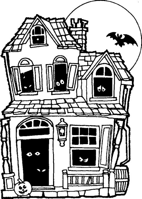 halloween coloring pages of a haunted house printable halloween coloring pages printable halloween