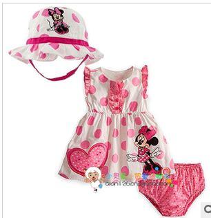 Dress Minnie Polkadot 1 bongbongidea polkadot minnie 3pcs set dress hat