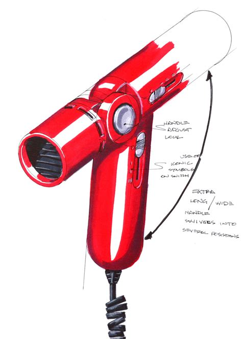 Braun Hair Dryer Hong Kong sketching by robert s donovan at coroflot