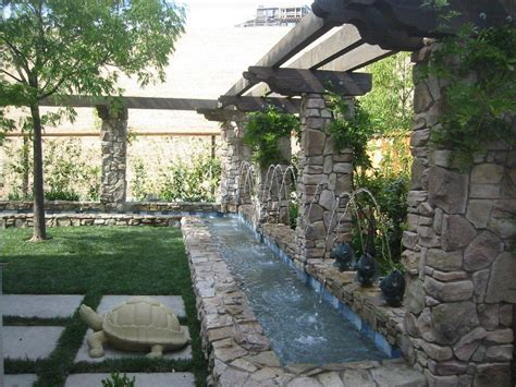Patio Backyard Ideas Backyard Waterfall Design Backyard And Patios
