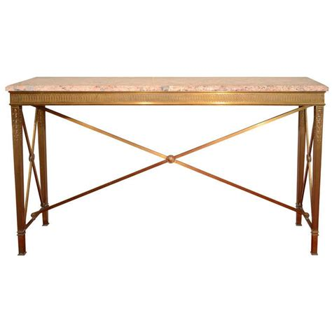 Bronze Console Table by Deco Bronze And Marble Console Table For Sale At 1stdibs